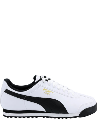 PUMA-Men's Roma Basic Sneaker - White Black-VIM.COM