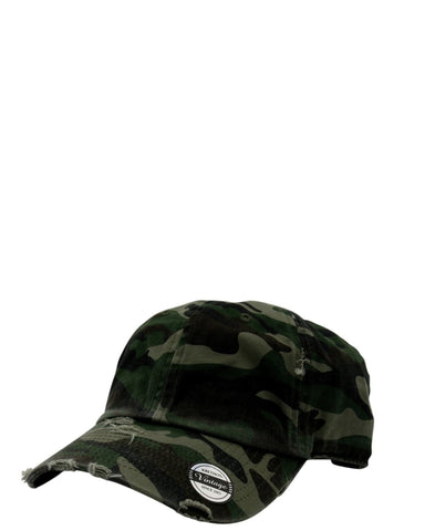 VIM Distressed Dad Hat - Camo - Vim.com