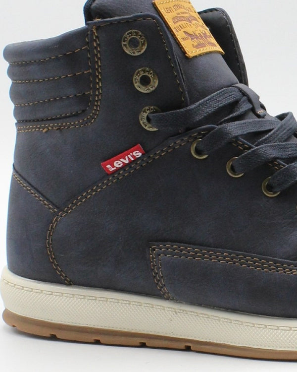 LEVI'S Men'S Fletcher Waxed Sneaker - Navy - Vim.com