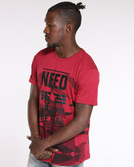 VIM Need Look Deeper The Real Tee - Burgundy - Vim.com