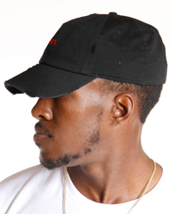 VIM Nasa Distressed Dad Hat - Black - Vim.com