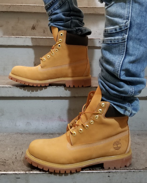 Mens 6 Inch Scuff Proof Waterproof Boot Wheat