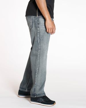 VIM Relaxed Fit Embroidery Pocket Baggy Jean - Medium Denim - Vim.com