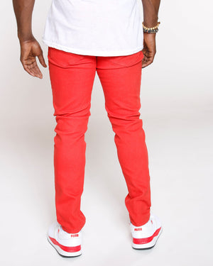 VIM Skinny Basic Twill Pant - Orange - Vim.com