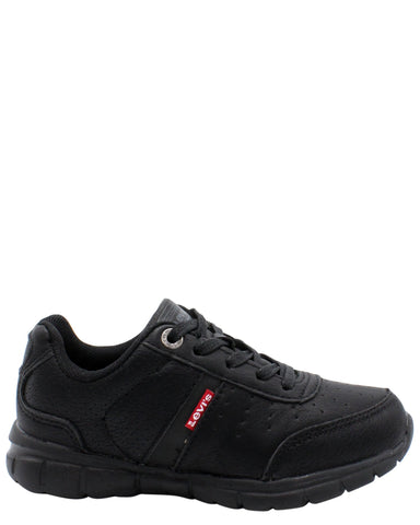 LEVI'S-Stallion Burnish Sneaker (Pre School) - Black-VIM.COM