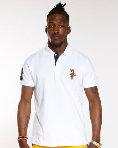 U.S. POLO ASSN. Multi Color Pony Polo Shirt - White - Vim.com