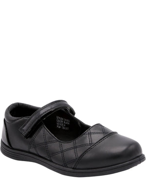 VIM Girl'S Mary Jane Quilted Memry Foam School Shoes (Pre School/Grade School) - Black - Vim.com