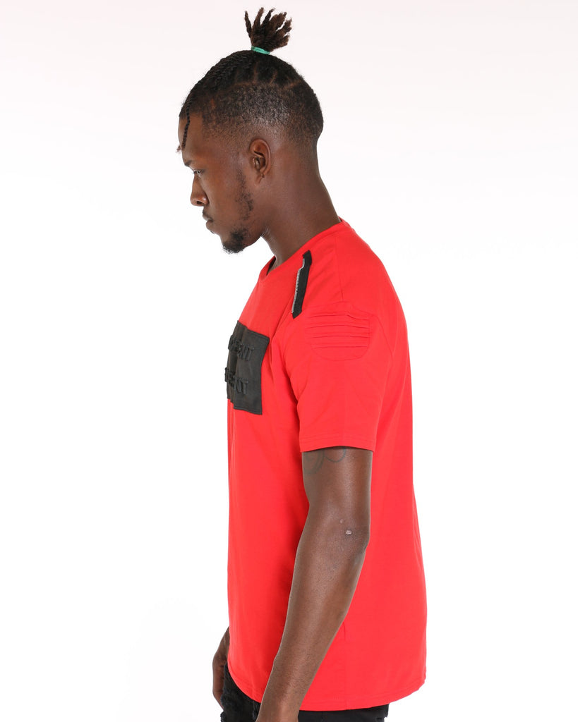 VIM Fin Excellent Embossed Moto Tee - Red - Vim.com
