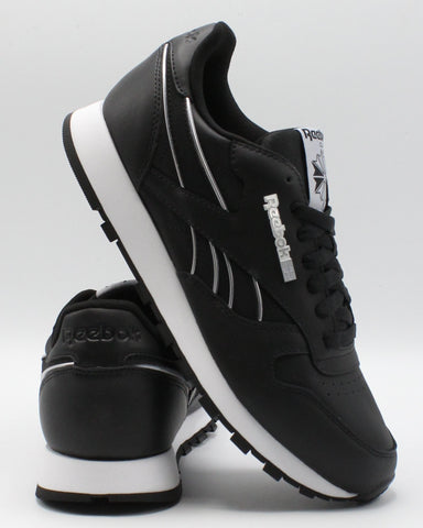 REEBOK-Men's Classic Leather Mu Sneaker - Black Grey-VIM.COM