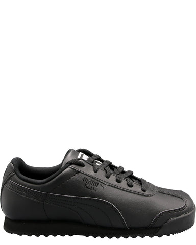 PUMA-Boys' Roma Basic Sneakers (Pre School) - Black-VIM.COM