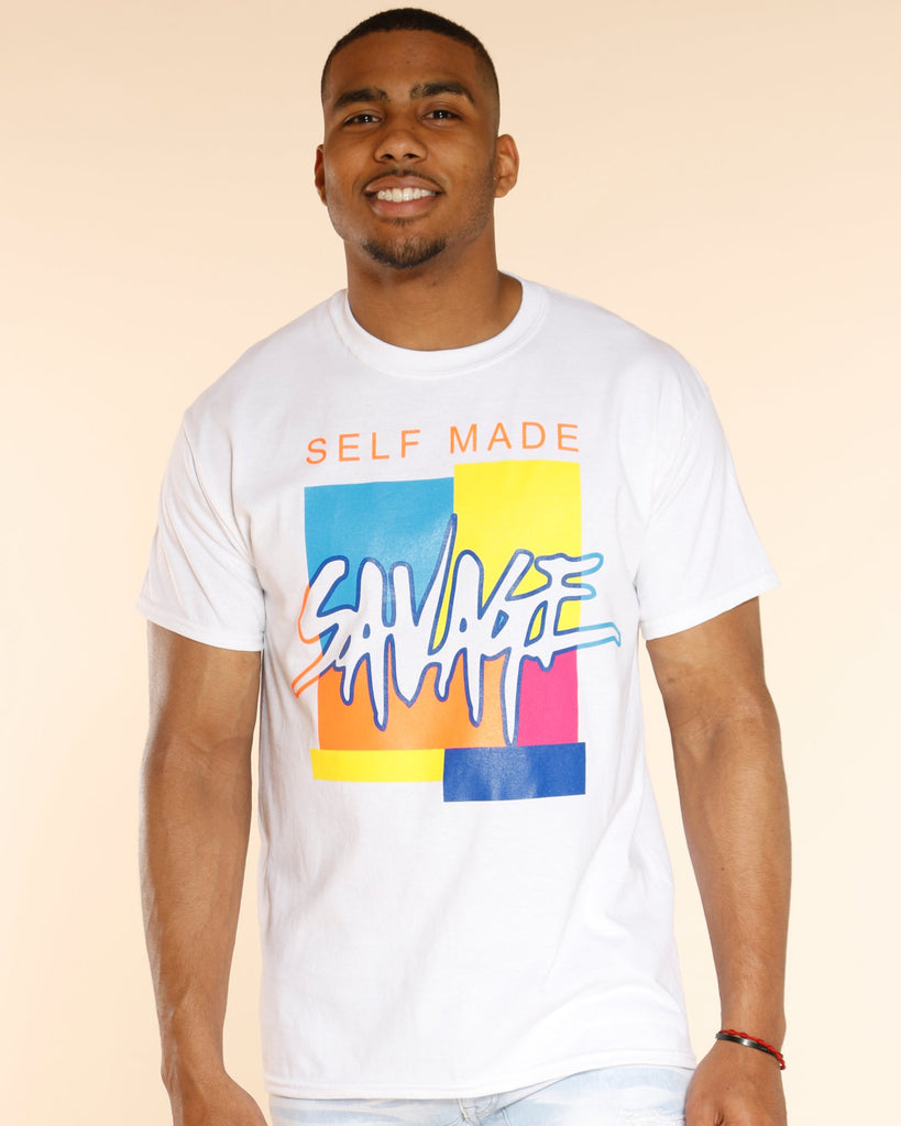 VIM Rainbow Savage Self Made Tee - White - Vim.com