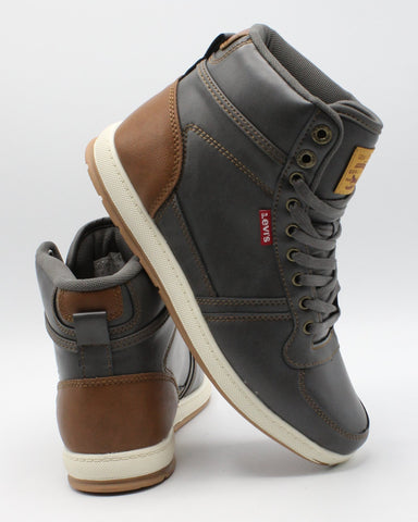 LEVI'S-Men's Stanton Burnish Sneaker - Charcoal-VIM.COM