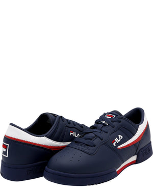 FILA Original Fitness Sneaker (Grade School) - Navy White Red - Vim.com