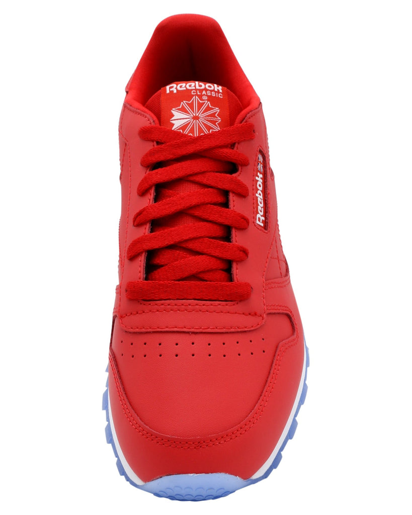 REEBOK Cl Leather Ice Sneaker (Grade School) - Red - Vim.com