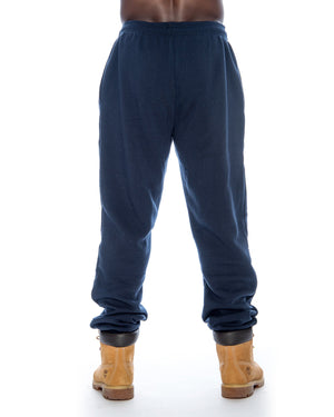 Skazi New York Men'S Fleece Casual Pants - Navy - Vim.com