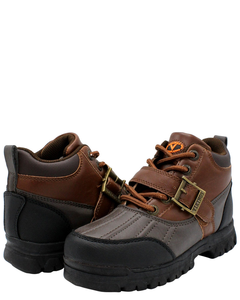 Viking Boys' Iriving Lace Up Buckle Hiking Boots (Pre School) - Brown - Vim.com