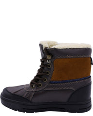NAUTICA Boys' Lockview Fur Boots (Grade School) - Brown - Vim.com