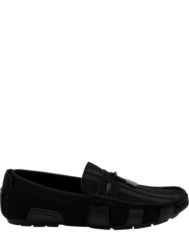 Marco Vitale Men'S Driving Moc Toggle Shoe - Black - Vim.com