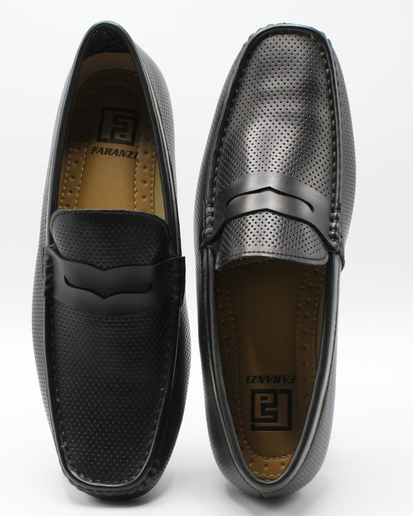 VIM Men'S Driving Moc Shoe - Black - Vim.com