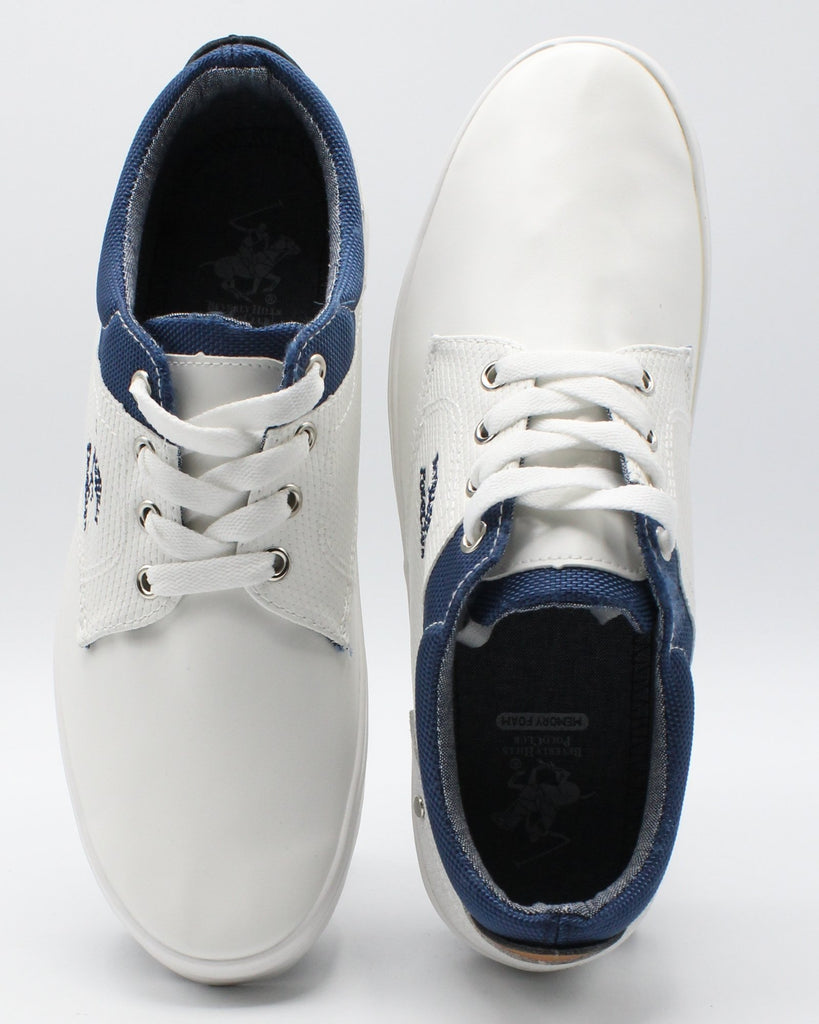 BEVERLY HILLS POLO CLUB Men'S Eric Sneaker - White - Vim.com
