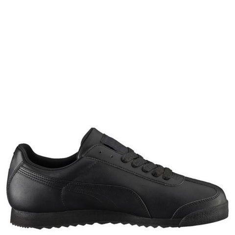 PUMA-Men's Roma Classic Low Leather Sneaker - Black-VIM.COM