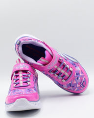 SKECHERS Heart Lights Sneaker (Pre School) - Pink - Vim.com