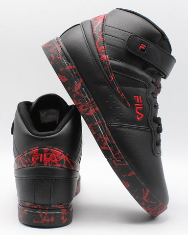 FILA-F 13 Mp Marble (Grade School) - Black Red-VIM.COM