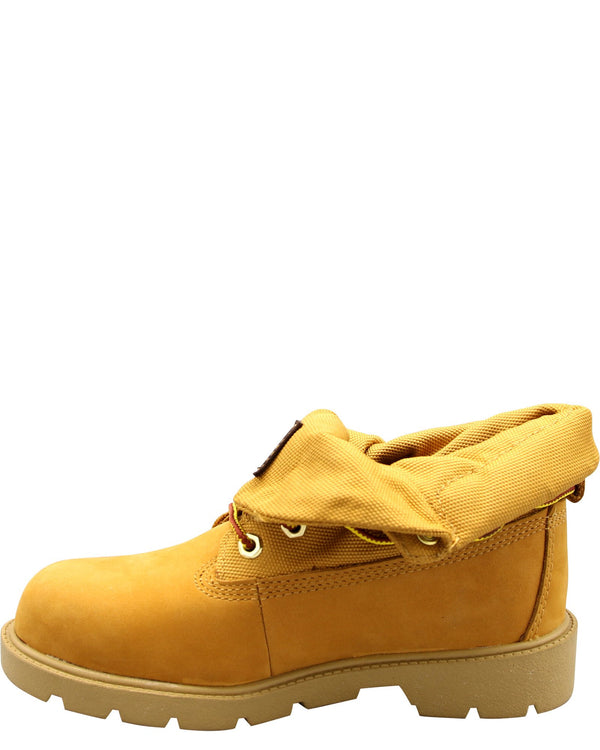 TIMBERLAND Boys' Roll Top Nubuck Fabric Boot (Grade School) - Wheat - Vim.com