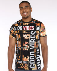 VIM Good Vibes Chain Printed Tee - Black - Vim.com