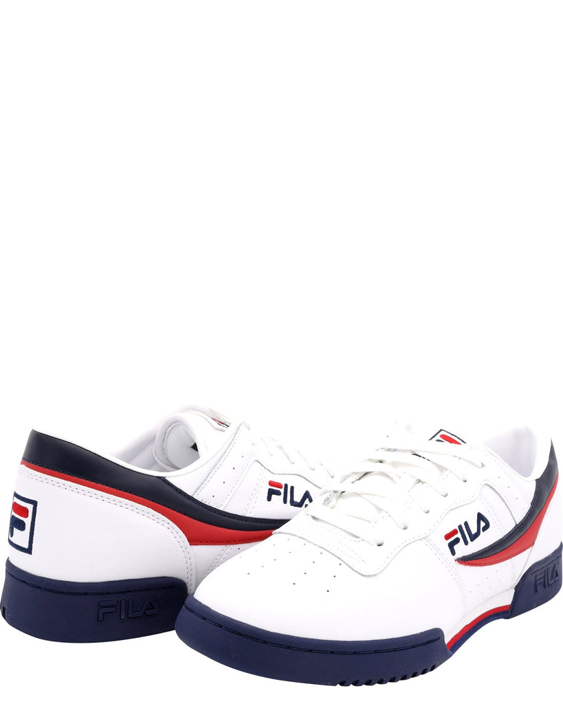 FILA Men'S Original Fitness Sneaker - White Navy Red - Vim.com