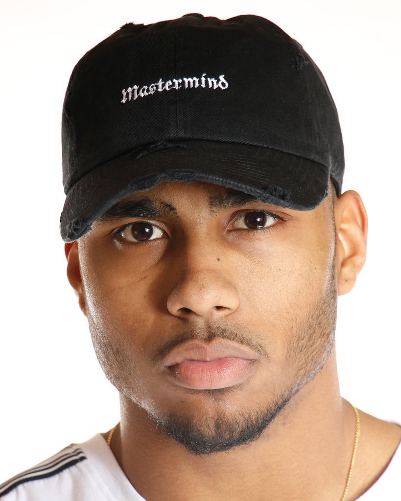 VIM Mastermind Distressed Dad Hat - Black - Vim.com