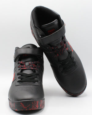 FILA Men'S F-13 Mp Marble Sneaker - Black Red - Vim.com