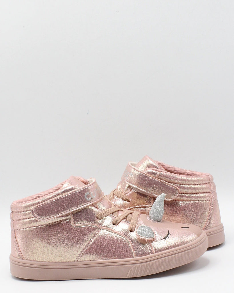 VIM Girls Unicorn High Top Sneakers - Pink - Vim.com