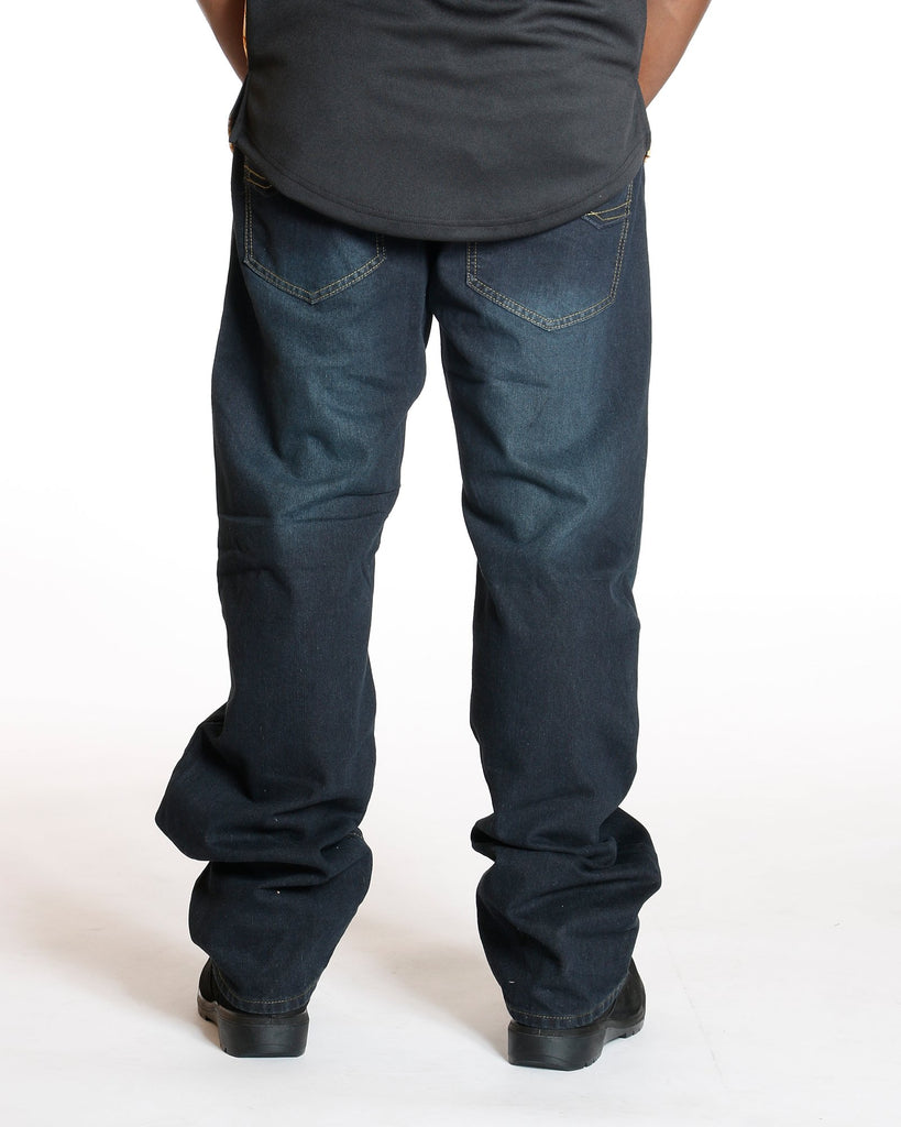 VIM Relaxed Fit Embroidery Pocket Jean - Dark Blue - Vim.com