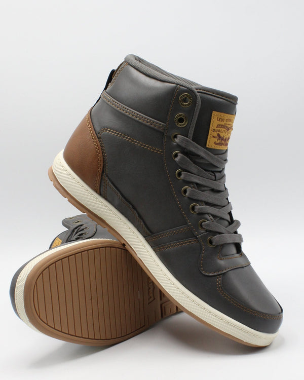 LEVI'S Men'S Stanton Burnish Sneaker - Charcoal - Vim.com