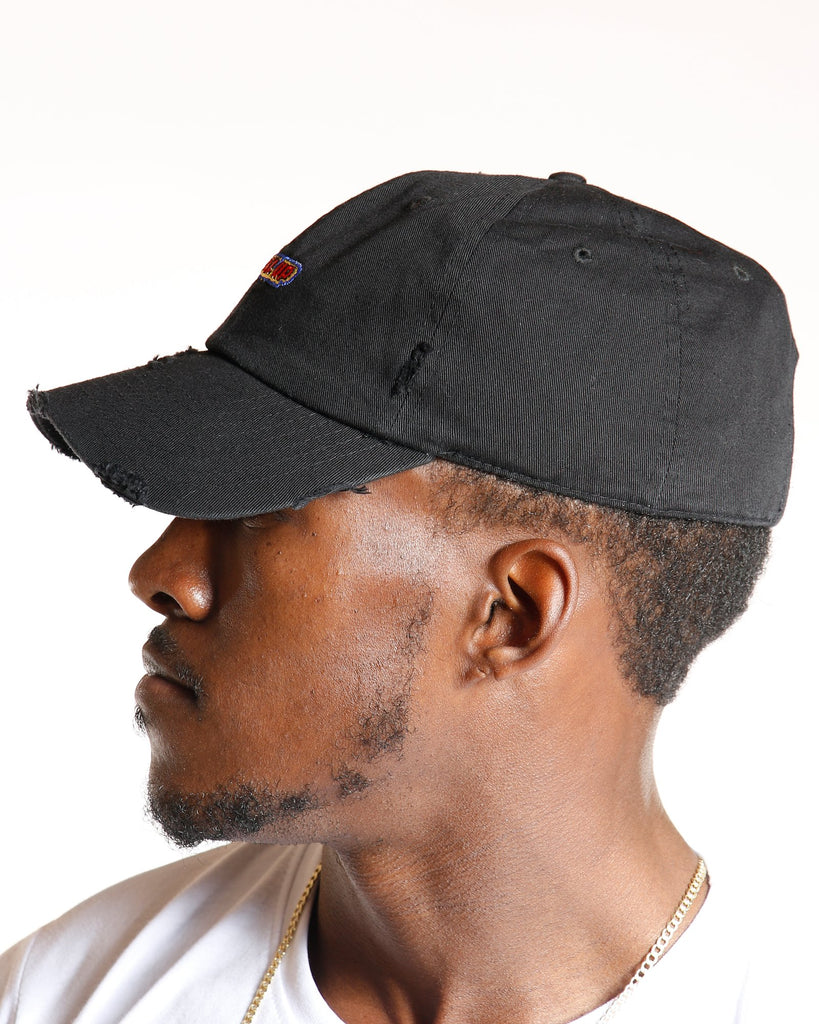 VIM Level Up Distressed Dad Hat - Black - Vim.com