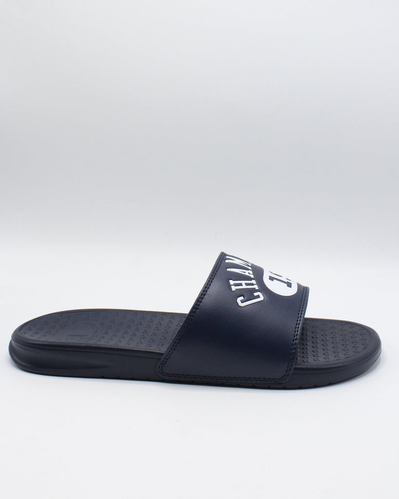 CHAMPION Men'S C Life Slide Sandal - Navy White - Vim.com