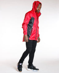 VIM Cut & Sow Color Block Non Fill Jacket - Red - Vim.com