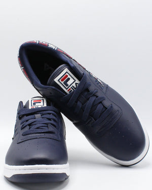 FILA Men'S Original Fitness Sneaker - Navy - Vim.com