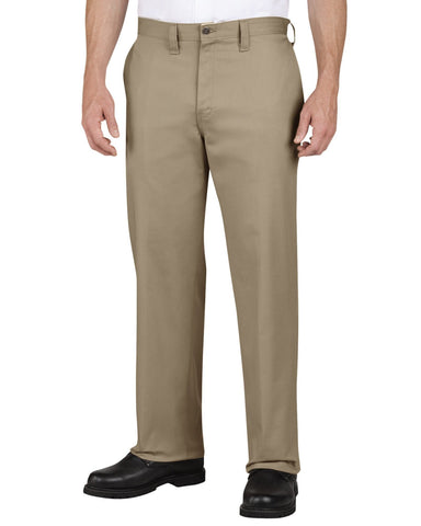 DICKIES-Men's Flat Front Pants - Khaki-VIM.COM
