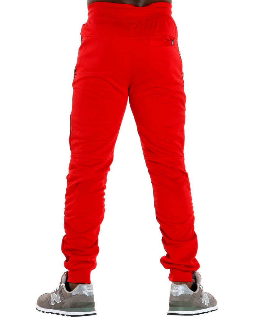 Switch Remarkable Men'S Tricot Shirred Leg Side Print Pants - Red - Vim.com