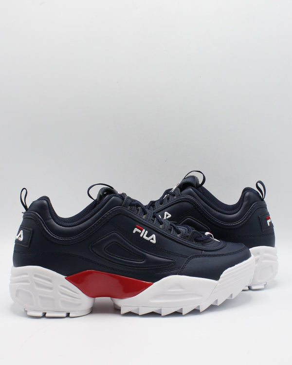 FILA Men'S Disruptor Ii Lab Sneaker - Navy Red White - Vim.com