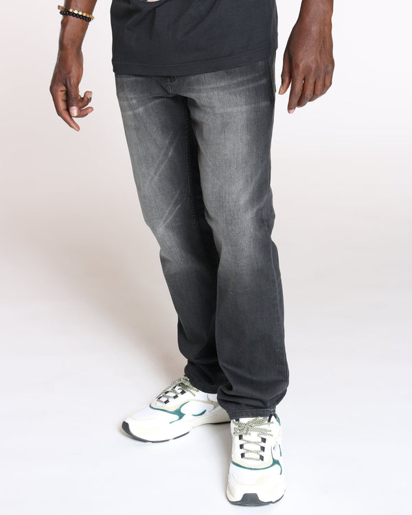 VIM Relaxed Fit Embroidered Pocket Jean - Black - Vim.com