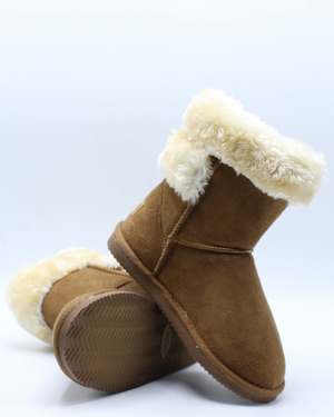 Suede Wrap Boot (Pre School) - Brown