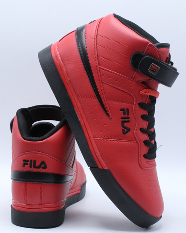 FILA-Men's Vulc 13 Mid Plus - Red Black-VIM.COM