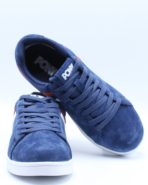 Men's Racer Tri Color Suede Sneaker - Blue Red White