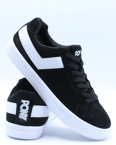 Men's Classic Low Suede Sneaker - Black White