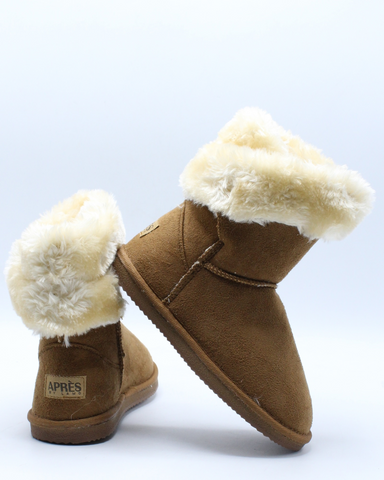 Suede Wrap Boot (Pre School) - Brown-VIM.COM
