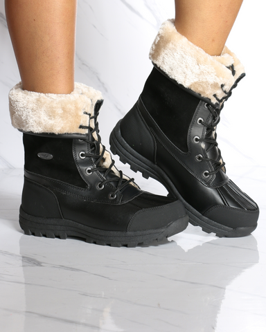 Women's Lugz Tumbora Fur Boot - Black