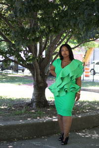 D Auxilly Ruffle Dress